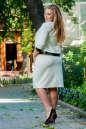 Женский костюм большего размера молочный цвета 2348.89 No2|интернет-магазин vvlen.com