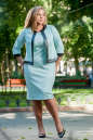 Женский костюм большего размера мятный цвета 2348.89 No0|интернет-магазин vvlen.com