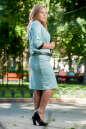 Женский костюм большего размера мятный цвета 2348.89 No2|интернет-магазин vvlen.com