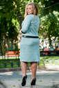 Женский костюм большего размера мятный цвета 2348.89 No3|интернет-магазин vvlen.com