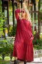 Платье оверсайз бордового цвета No1|интернет-магазин vvlen.com
