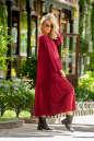Платье оверсайз бордового цвета No2|интернет-магазин vvlen.com