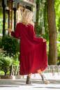 Платье оверсайз бордового цвета No3|интернет-магазин vvlen.com