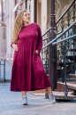 Платье оверсайз бордового цвета No5|интернет-магазин vvlen.com