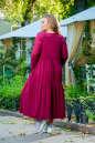 Платье оверсайз бордового цвета No6|интернет-магазин vvlen.com