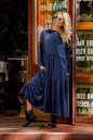 Платье оверсайз темно-синего цвета 2403.86 No1|интернет-магазин vvlen.com