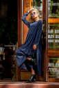 Платье оверсайз темно-синего цвета 2403.86 No2|интернет-магазин vvlen.com