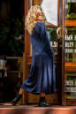 Платье оверсайз темно-синего цвета 2403.86 No3|интернет-магазин vvlen.com