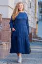 Платье оверсайз темно-синего цвета 2403.86 No4|интернет-магазин vvlen.com