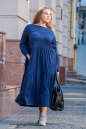 Платье оверсайз темно-синего цвета 2403.86 No5|интернет-магазин vvlen.com