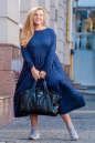 Платье оверсайз темно-синего цвета 2403.86 No6|интернет-магазин vvlen.com