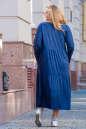 Платье оверсайз темно-синего цвета 2403.86 No7|интернет-магазин vvlen.com