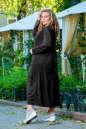 Платье оверсайз черного цвета No4|интернет-магазин vvlen.com