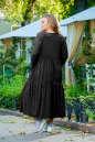 Платье оверсайз черного цвета No5|интернет-магазин vvlen.com