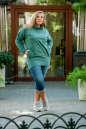 Худи оверсайз зеленого цвета  2404.79 No4|интернет-магазин vvlen.com