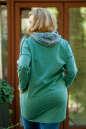Худи оверсайз зеленого цвета  2404.79 No7|интернет-магазин vvlen.com
