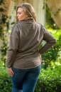 Худи оверсайз коричневого цвета  2405.79 No6|интернет-магазин vvlen.com