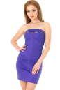 Коктейльное платье с открытой спиной фиолетового цвета No3|интернет-магазин vvlen.com