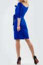 Коктейльное платье футляр электрика цвета 2582.47 No2|интернет-магазин vvlen.com
