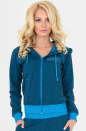 Спортивная кофта синего цвета|интернет-магазин vvlen.com