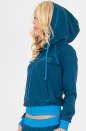 Спортивная кофта синего цвета 153-154 No1|интернет-магазин vvlen.com