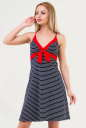 Летнее платье трапеция синего с красным цвета 1499-11 No0|интернет-магазин vvlen.com