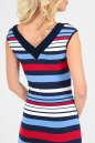 Летнее платье футляр синего с красным цвета No4|интернет-магазин vvlen.com