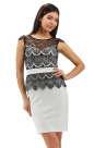 Коктейльное платье футляр черного цвета 2193.41 No0|интернет-магазин vvlen.com