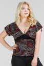 Блуза бордового c черным цвета 462.17 No0|интернет-магазин vvlen.com
