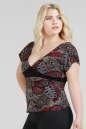 Блуза бордового c черным цвета 462.17 No1|интернет-магазин vvlen.com