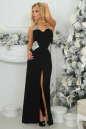 Вечернее платье с открытой спиной черного с серебристым цвета 405.2 No0|интернет-магазин vvlen.com