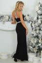 Вечернее платье с открытой спиной черного с серебристым цвета 405.2 No2|интернет-магазин vvlen.com