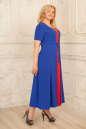 Летнее платье с расклешённой юбкой синего с красным цвета 2291.83 No1|интернет-магазин vvlen.com