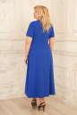 Летнее платье с расклешённой юбкой синего с красным цвета 2291.83 No3|интернет-магазин vvlen.com