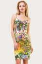 Летнее платье-комбинация зеленого тона цвета 1564.33 No0|интернет-магазин vvlen.com