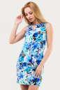 Летнее платье футляр голубого тона цвета No0|интернет-магазин vvlen.com