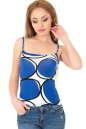 Майка женская синего тона цвета 336.17|интернет-магазин vvlen.com
