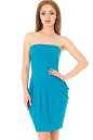 Коктейльное платье с открытыми плечами морской волны цвета|интернет-магазин vvlen.com
