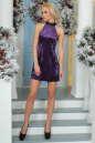 Коктейльное платье трапеция сиреневого цвета 1004.22|интернет-магазин vvlen.com