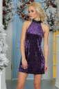 Коктейльное платье трапеция сиреневого цвета No1|интернет-магазин vvlen.com