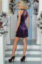 Коктейльное платье трапеция сиреневого цвета No2|интернет-магазин vvlen.com