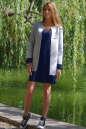 Жакет женский серого с синим цвета 2229.63|интернет-магазин vvlen.com