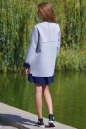 Жакет женский серого с синим цвета No2|интернет-магазин vvlen.com