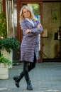 Кардиган модный сиреневого с черным цвета 2393.21 No0|интернет-магазин vvlen.com