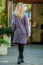 Кардиган модный сиреневого с черным цвета 2393.21 No2|интернет-магазин vvlen.com