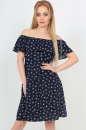 Летнее платье трапеция темно-синего цвета интернет-магазин vvlen.com
