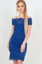 Летнее платье футляр электрика цвета 2208-1.12 No0|интернет-магазин vvlen.com
