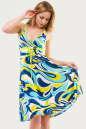 Летнее платье с расклешённой юбкой голубого тона цвета 1337.20 No0|интернет-магазин vvlen.com