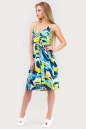 Летнее платье с расклешённой юбкой голубого тона цвета 1337.20 No2|интернет-магазин vvlen.com