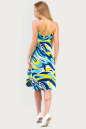 Летнее платье с расклешённой юбкой голубого тона цвета 1337.20 No3|интернет-магазин vvlen.com